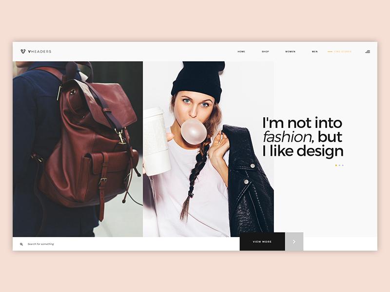 Fashion Concept inspiration ux design ui design portfolio landing page media theme templates creative layouts webdesign fashion