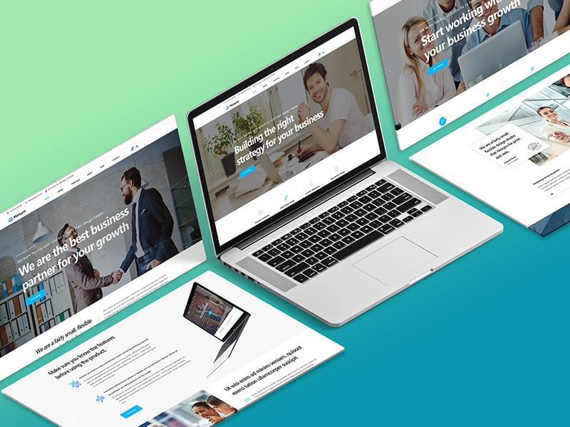 Isometric Website Mockup 2 0 By Kl Webmedia On Dribbble