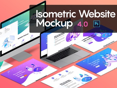 Isometric Website Mockup website presentation website showcase perspective website perspective mockup isometric website mockup isometric mockup