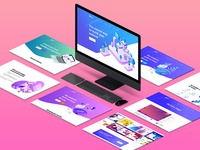Isometric Website Mockup 3.0