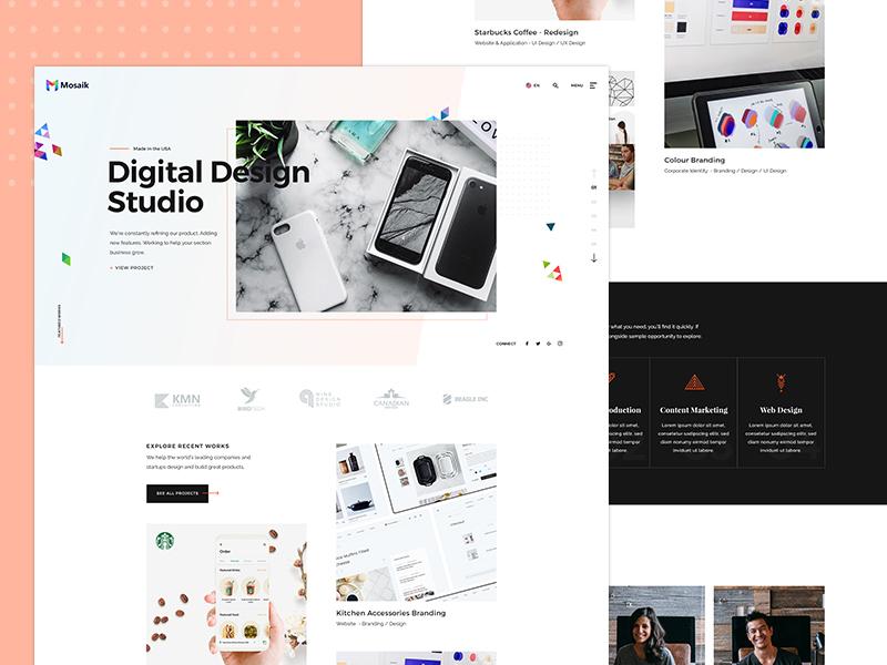 Agency Website Design WIP by KL-Webmedia on Dribbble