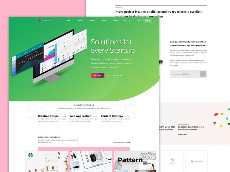 Startup Website strategy consulting ui design wordpress website design and development landing page website concept startup branding website design startup