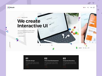 Landing Page Design minimal webdesign corporate design company theme landing page concept agency portfolio ui design website design landing page