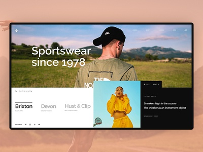 Sportswear Concept webdesign sports branding branding nike ui design website concept sportswear