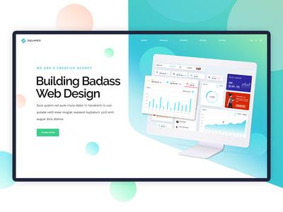Presentation UI Concept imac mockup imac device concept webdesign ui design branding illustration landing page website ui