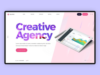 Creative Agency mockup device motion ui design webdesign minimal creative app website management marketing