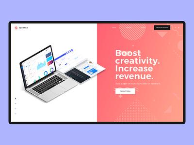 Website Header Mockup Design