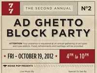 Ad Ghetto Block Party Poster