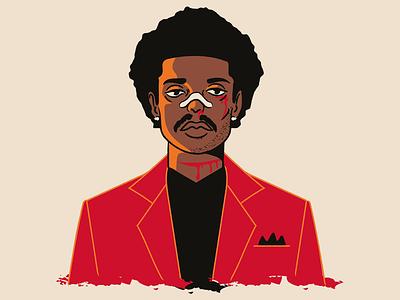 Abel Tesfaye - Transformation weeknd the weeknd black blood adobe illustrator vector vintage red comic pop singer faces theweeknd illustration