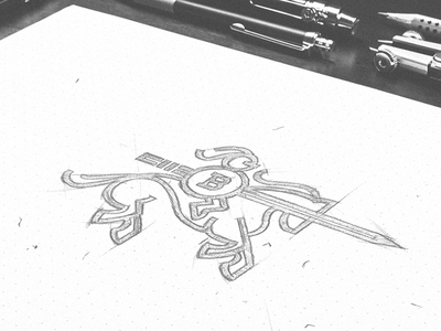 Skecth for a personal brand knight