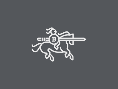 The Creative Knight sword medieval horse logo knight