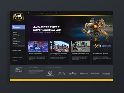 Badstrike V1 gaming web design website design