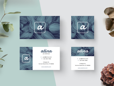Atina Business Card brand business card branding