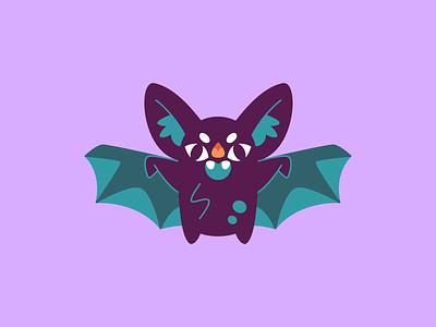 Retro bat retro monster spooky halloween bat