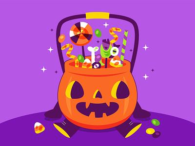 Pumpkin bag october spooky candy bag pumpkin halloween
