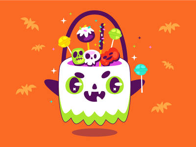 Ghost bag bag october spooky candy ghost halloween