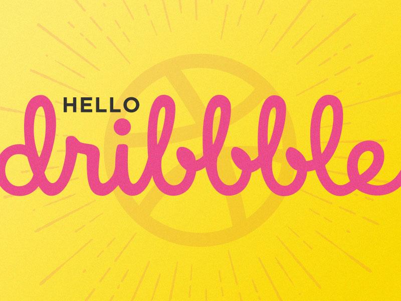Hello Dribbble first shot dribbble debut
