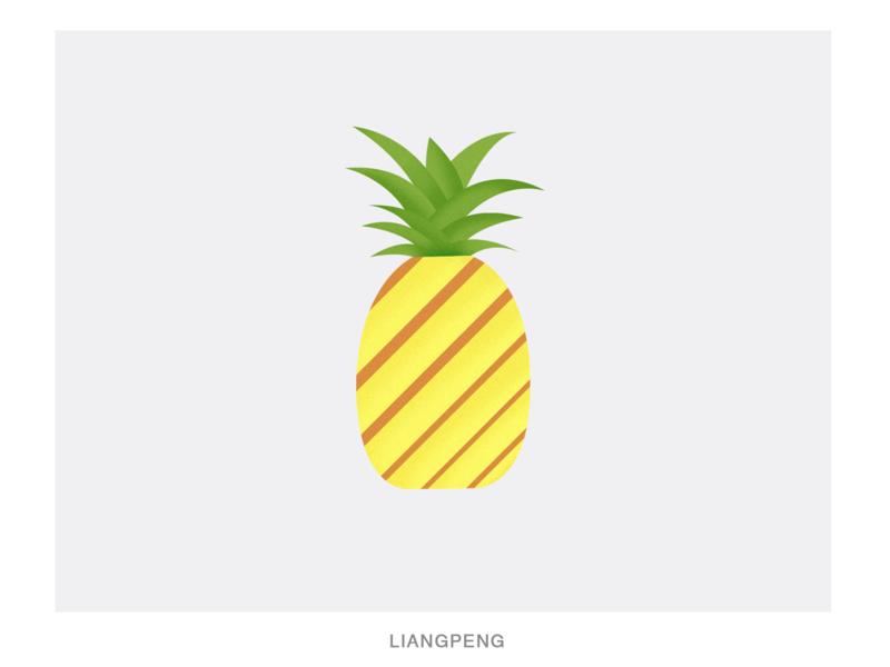 PINEAPPLE pineapple fruit practice illustration