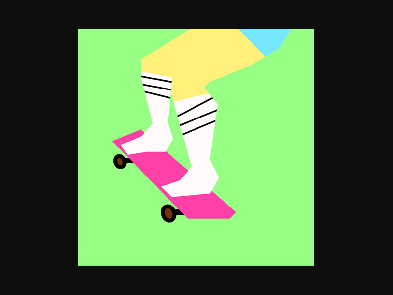 SKATEBOARD skateboard design illustration