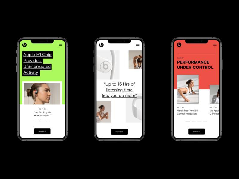 Beats by Dre. Powerbeats Pro Retail Concept apple store apple branding music headphone beats beats by dre retail ui flat maximalism