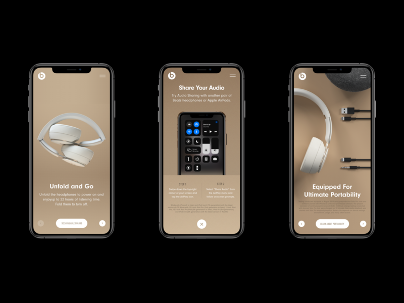 Beats by Dre. Solo Pro Retail App product page clean ui in store beats by dre apple retail headphone