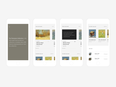Art Gallery of Ontario App clean typography icon flat branding ui minimal app gallery art app ago toronto