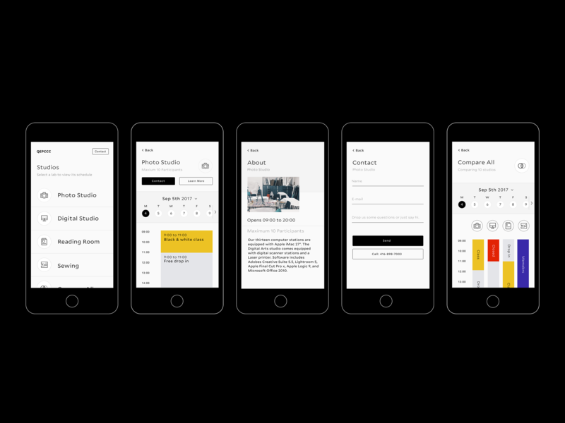 Schedule Checking App for an Art Centre table status schedule brutalism efficiency timetable info graphic typography minimal app ui flat clean