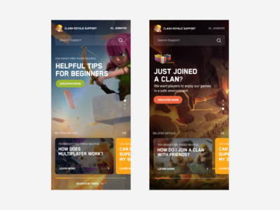 Supercell Visual Exploration photoshop game art branding illustration app immersive ui clash of clans game