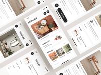 ROOM APP app home room ux ui design