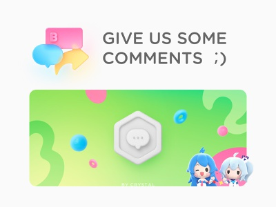 Milestone Posters 01 33 22 omment comments poster milestone icon blue red green branding girl 3d ui illustration design graphic
