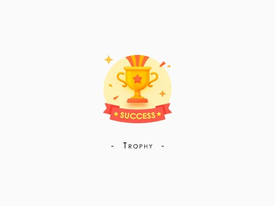Trophy graphic icon ui