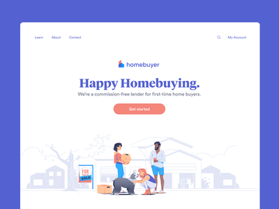 Homebuyer.com Rebrand logo branding mortgage logo mortgage illustration home logo homepage home