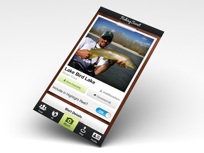 New angle on my FishingSkout mockup fishing scout skout iphone app angler