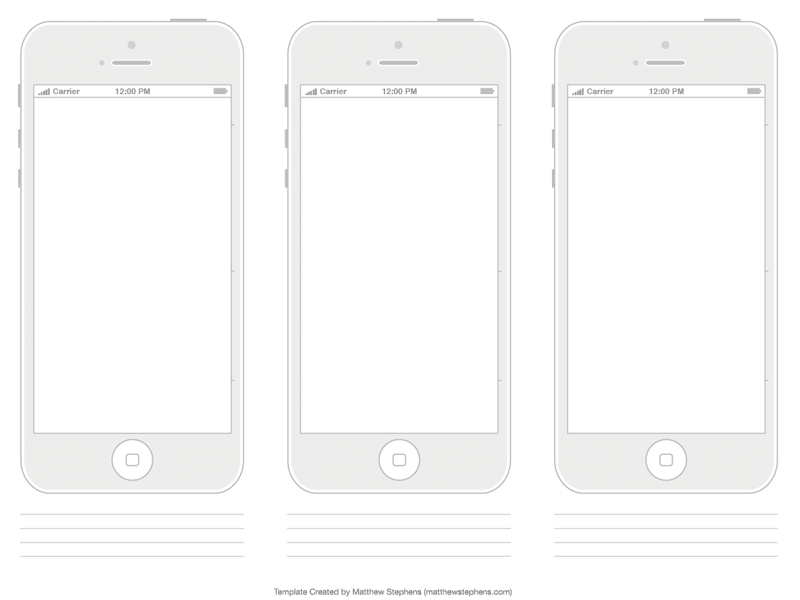 Free Printable iPhone 5 & 5s Template Minimalist iphone 5 5s template minimalist