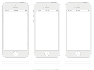 Free Printable iPhone 5 & 5s Template Minimalist
