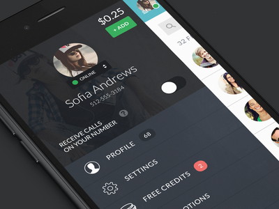 YouRoam Concept messaging app youroam menu ui