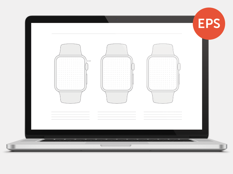 Free Apple Watch Wireframe Template - Printable free freebie apple watch wireframe template kit printable ux ui iwatch