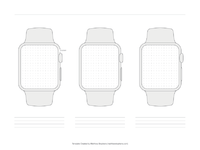 Apple watch templates