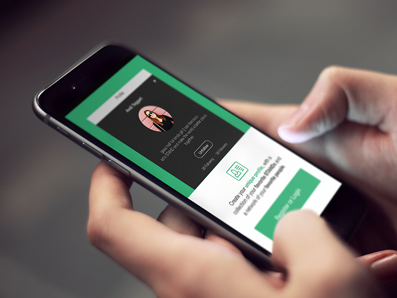 Stand Onboarding Screen app iphone charity stand intro welcome onboarding