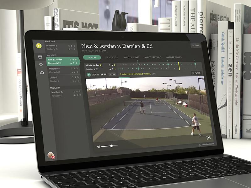 Tennis App Data Visualization highlights bug score visualization data app tennis