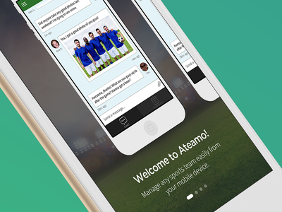 Initial version of the onboarding process... stadium soccer management team sports ios iphone mobile onboarding ateamo