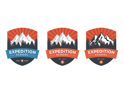 Expedition School Logo Ideas school expedition banner trees mountains logos