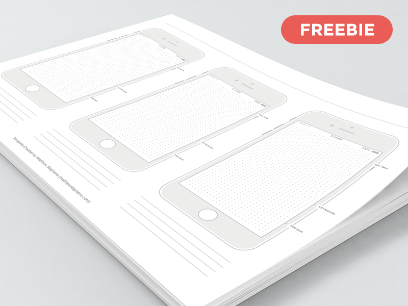 Free Printable iPhone 7 Templates (iOS 10) iphone 7 templates freebie free iphone template prototype printable templates wireframe ios 10 templates 7 iphone printable free