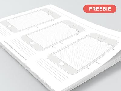 Free Printable iPhone 7 Templates (iOS 10) iphone 7 templates freebie free iphone template prototype printable templates wireframe ios 10 templates 7 iphone printable free