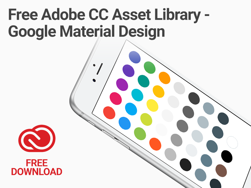 Adobe cc library google material sm