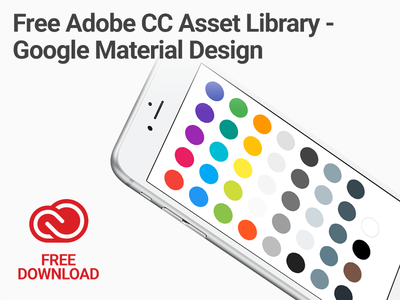 Free Adobe Creative Cloud Asset Library - Google Material Design fonts colors library asset cloud creative cc adobe design material google free