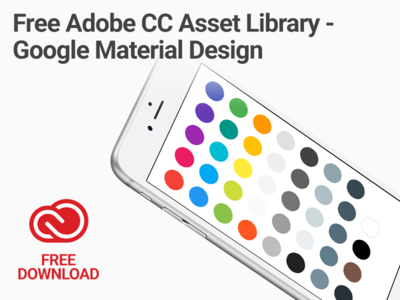 Free Adobe Creative Cloud Asset Library - Google Material Design