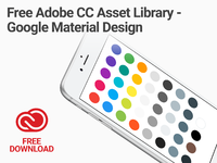 Adobe cc library google material