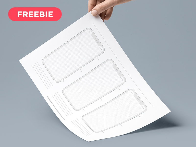 Free Printable iPhone X Templates prototyping grid freebie printable templates free iphone template iphone x templates iphone x template templates iphone x printable free