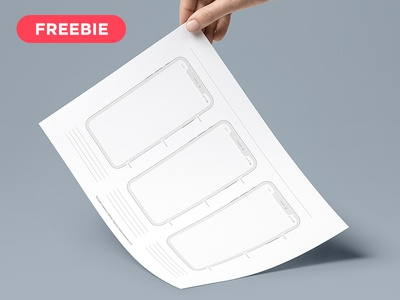 Free Printable iPhone X Templates